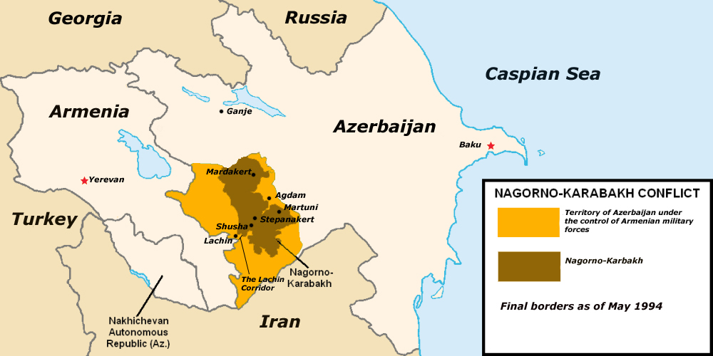 Nagorno-Karabakh Occupation Map