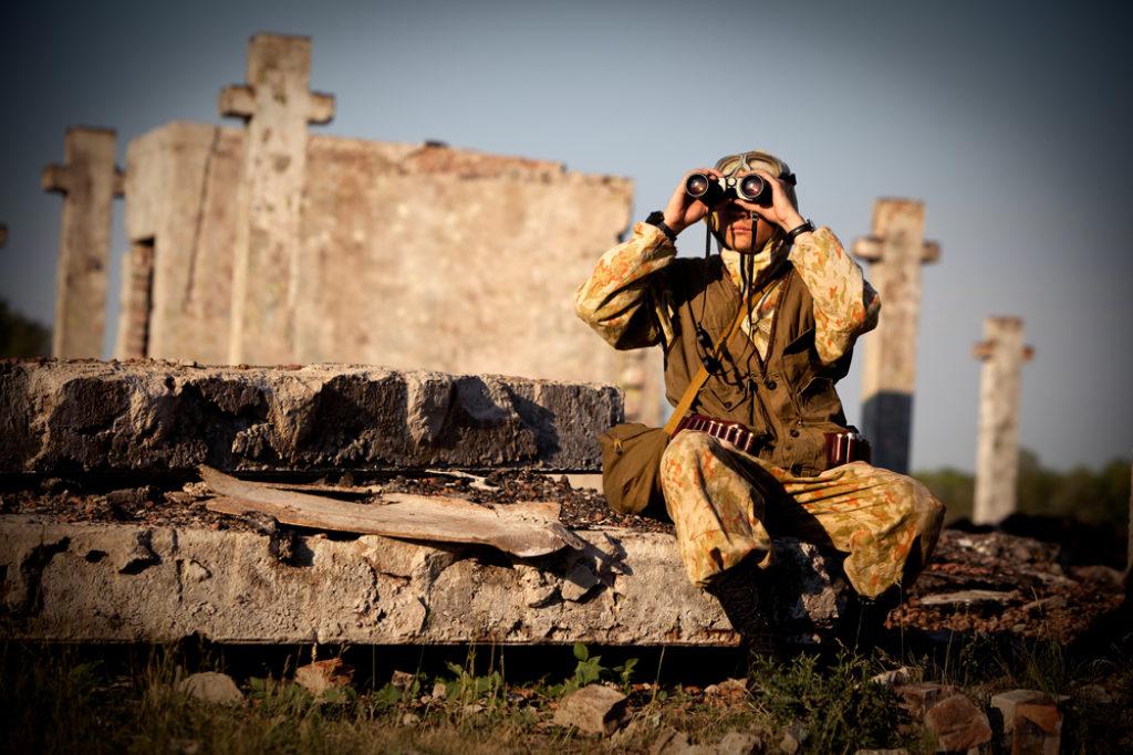 soldier binoculars