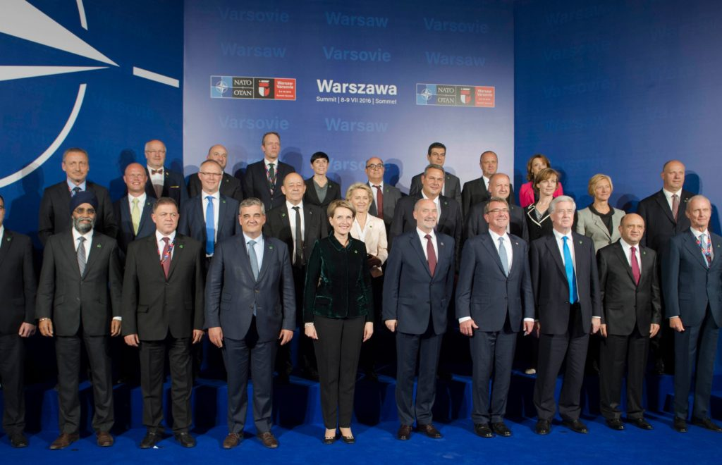 NATO Ministers for Defence at the 2016 Warsaw Summit in Poland