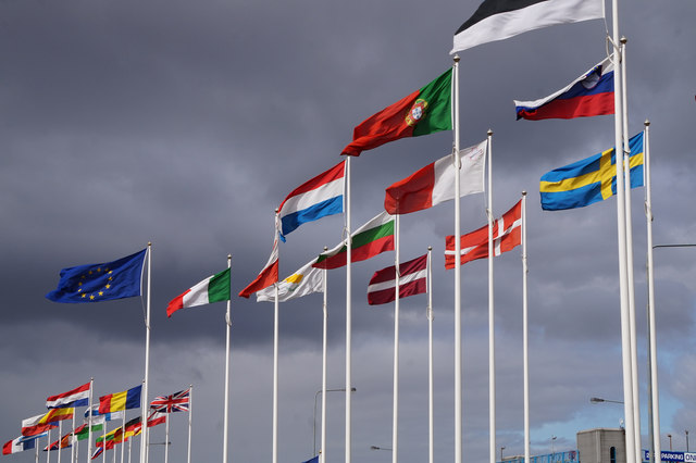 eu flags clouds