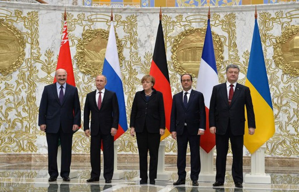 Normandy format talks in Minsk February 2015 03