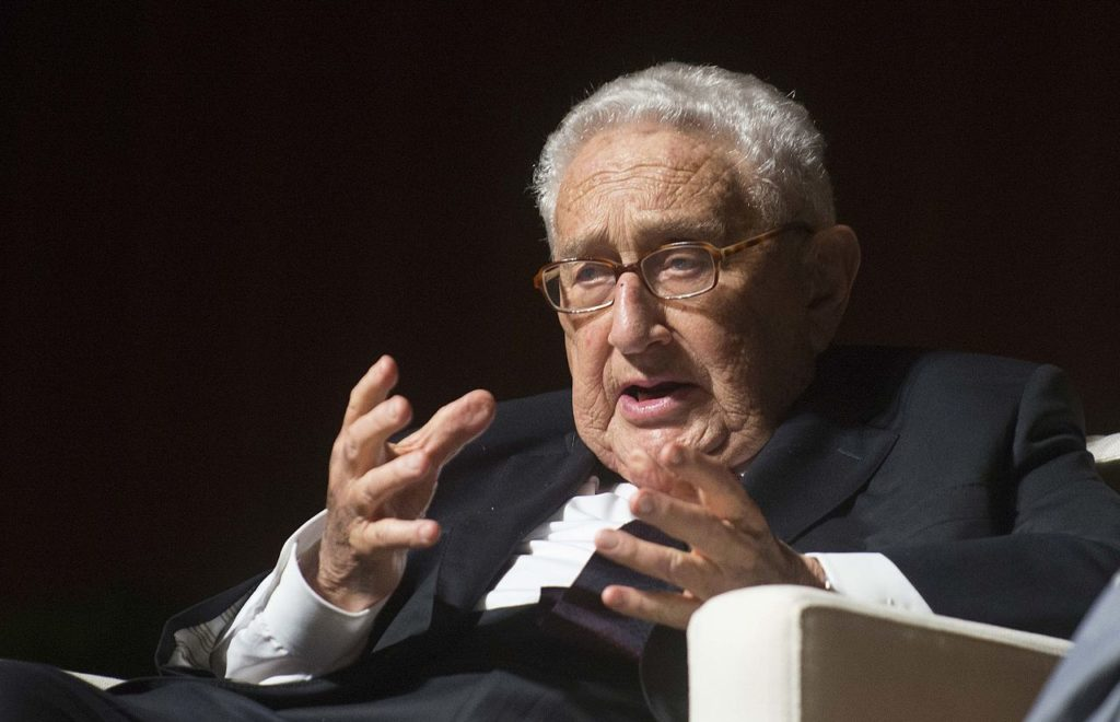 Henry Kissinger at the LBJ Library 2016