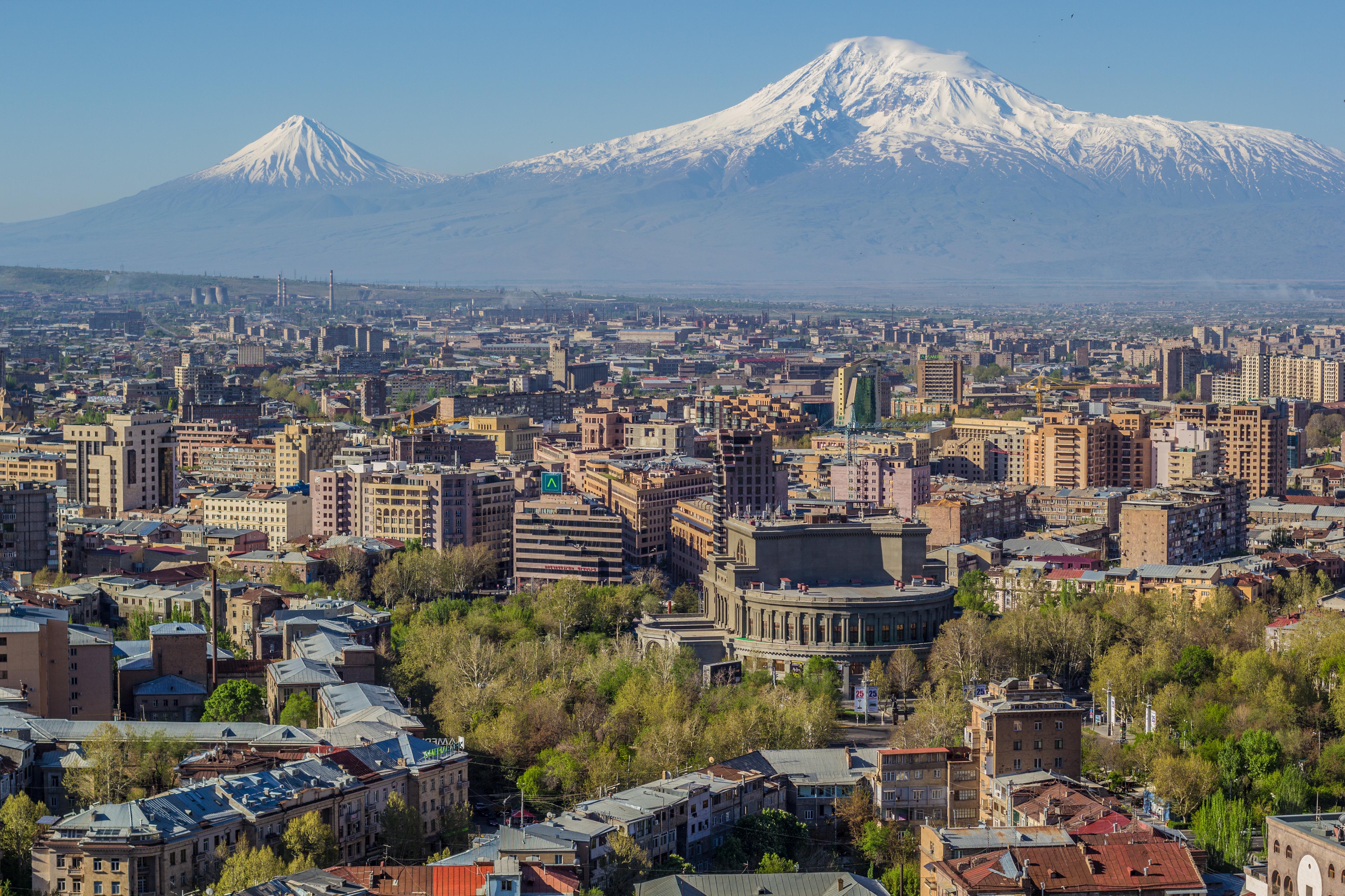 Mount Ararat and the Yerevan skyline 1