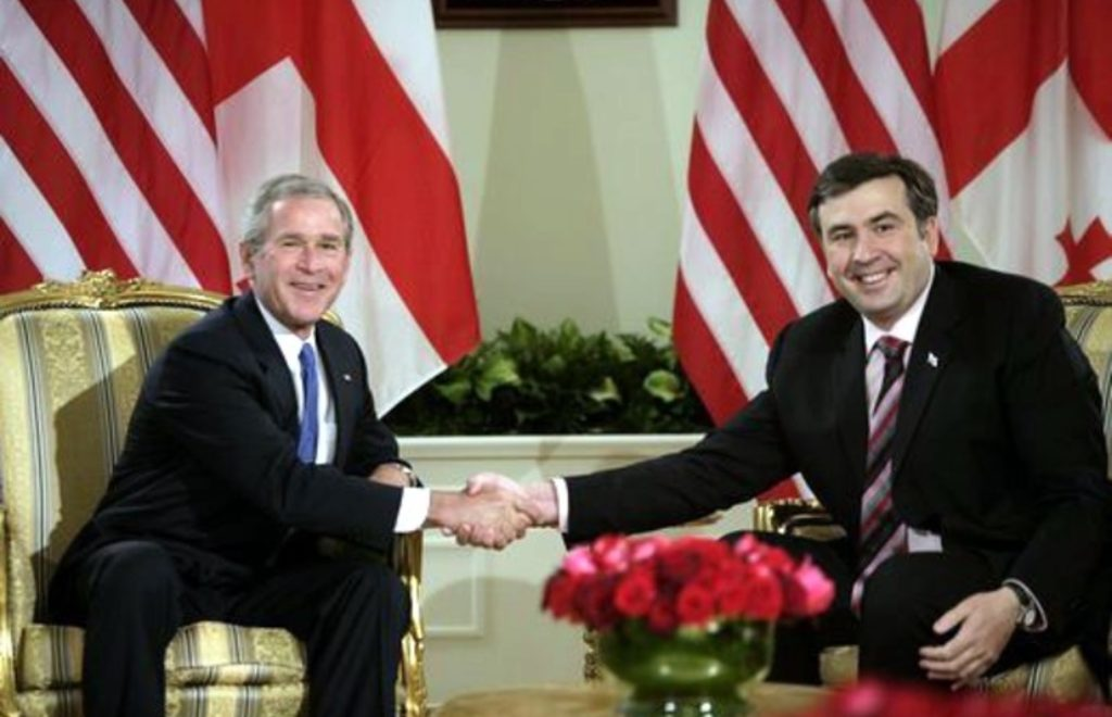 saakashvili n bush