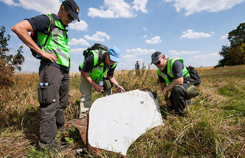 Investigation of the crash site of MH-17 1